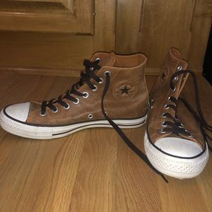 Converse Allstar Brown Leather Hightops